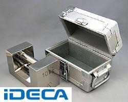 【個数:1個】EM16579 「直送」【代引不可・他メーカー同梱不可】 ケース入りM1級10kgステンレス製まくら型分銅