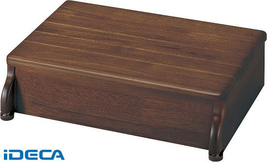 FS85238 木製玄関台45W-30-1段 ブラウン