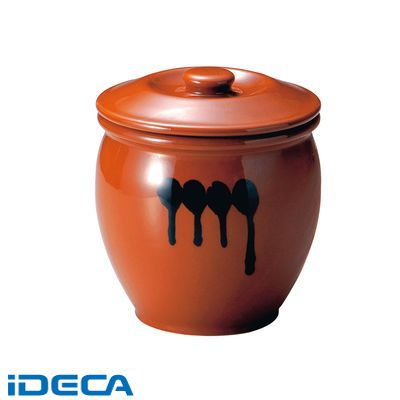 DR04984 陶器 蓋付半胴かめ 8号 14.4L
