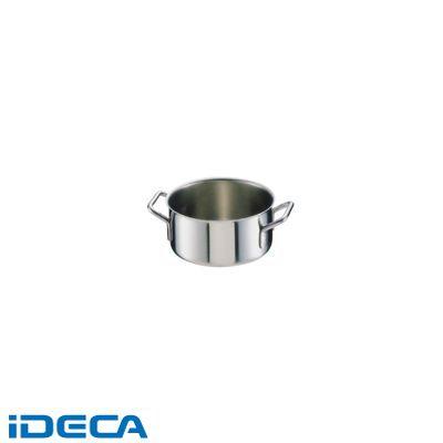 EU15957 シットラムイノックス18-10半寸胴鍋 三重底 (蓋無)16B 16