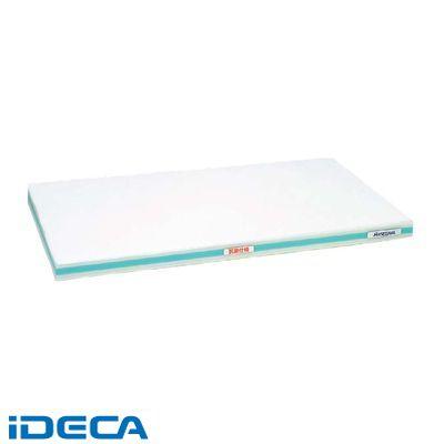 HT91229 抗菌かるがるまな板 SDK 600×300×20 ホワイト/緑線