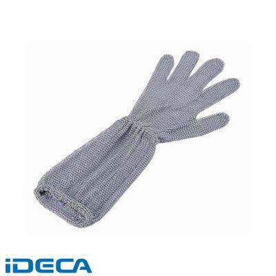 JN84958 ロングカフ付 メッシュ手袋5本指 L LC-L5-MBO(3)