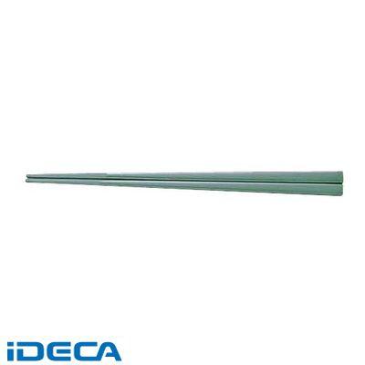 JU12583 メラミンすべり止め付角箸 50膳入 22.5cm 緑