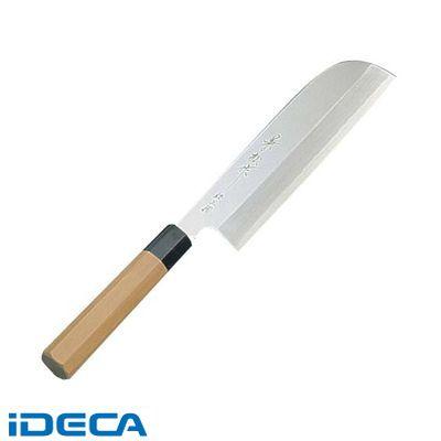 JU43999 兼松作 銀三鋼 鎌型薄刃庖丁 18