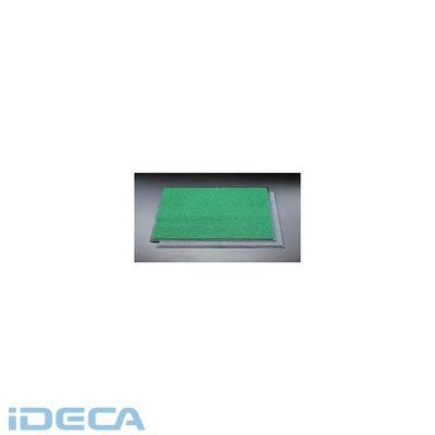 【個人宅配送不可】JS38549 直送 代引不可・他メーカー同梱不可 900x1200mm 緑 玄関マット【キャンセル不可】