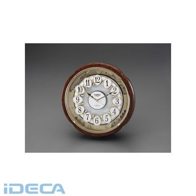 【個人宅配送不可】JM43438 直送 代引不可・他メーカー同梱不可 φ385x115mm 電波からくり掛時計【キャンセル不可】