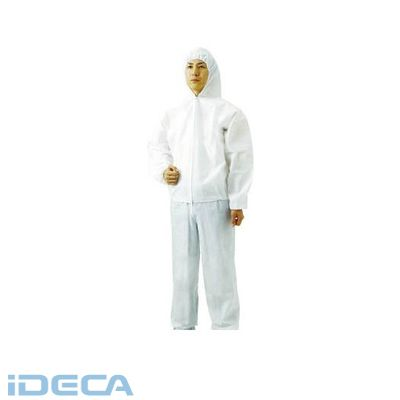 【個数:1個】ET03303 不織布使い捨て保護服フード付ジャンバー LL【60入】
