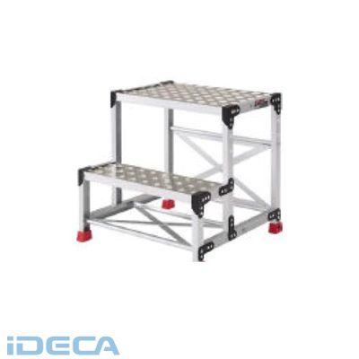 AT81072 アルミ合金製作業台 縞鋼板 500X400X600