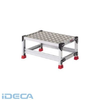 【個数:1個】DM26641 アルミ合金製作業台 縞鋼板 600X400X300