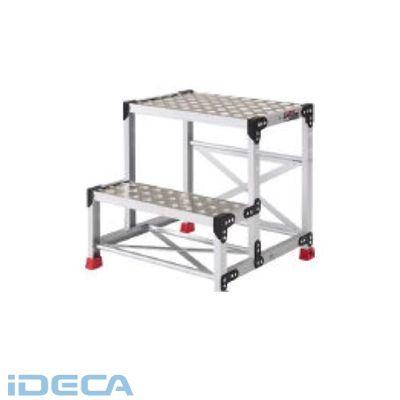 【個数:1個】ER58283 アルミ合金製作業台 縞鋼板 500X400X700
