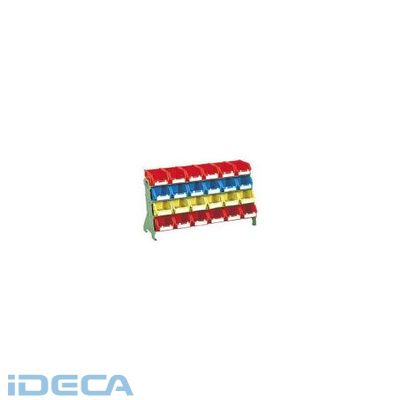 【個数:1個】GT25201 直送 代引不可・他メーカー同梱不可 片面卓上型コンテナラック高さ405小棚4