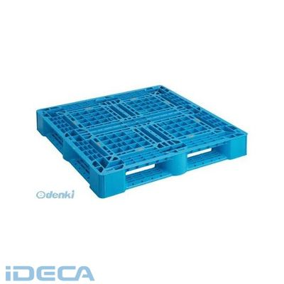 【個数:1個】JW07275 樹脂パレット 片面4方差 1100X1100 青