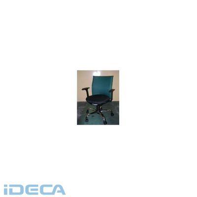 【個数:1個】CT09369 「直送」【代引不可・他メーカー同梱不可】 オフィスチェアーローバック肘付緑