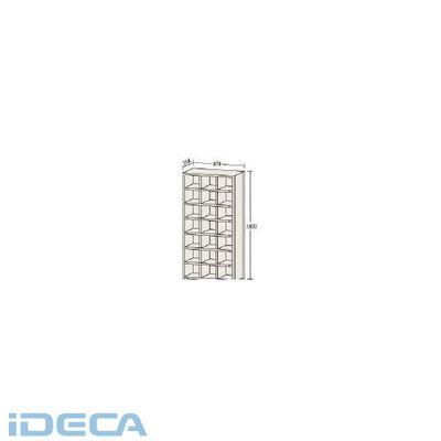 JM31422 直送 代引不可・他メーカー同梱不可 区分棚カード差し付879×254×1800横3列型7段
