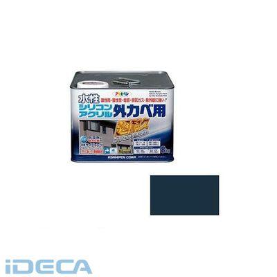 DU07925 アサヒペン 水性シリコンアクリル外かべ用 8KG アトランティックブルー