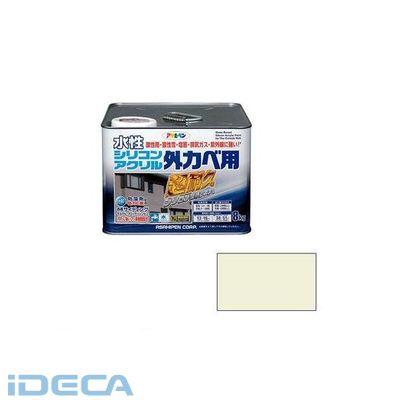 DW25640 アサヒペン 水性シリコンアクリル外かべ用 8KG ミルキーホワイト