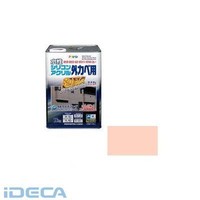 HN67421 アサヒペン 水性シリコンアクリル外かべ用 16KG ティントローズ