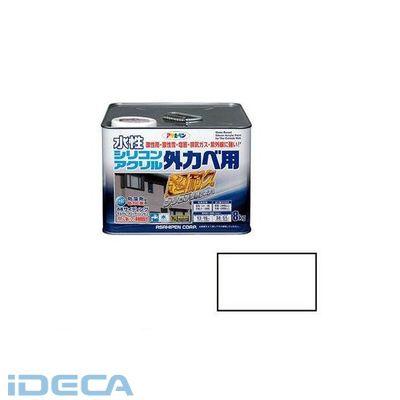 HU02851 アサヒペン 水性シリコンアクリル外かべ用 8KG ホワイト