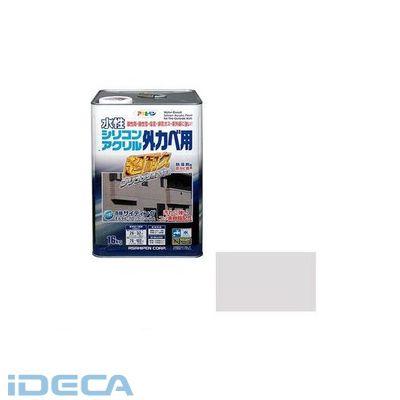 JS99063 アサヒペン 水性シリコンアクリル外かべ用 16KG ソフトグレー