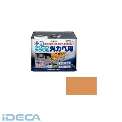 JV16778 アサヒペン 水性シリコンアクリル外かべ用 8KG ラフィネオレンジ