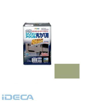 KU12990 アサヒペン 水性シリコンアクリル外かべ用 16KG ウィニーグリーン
