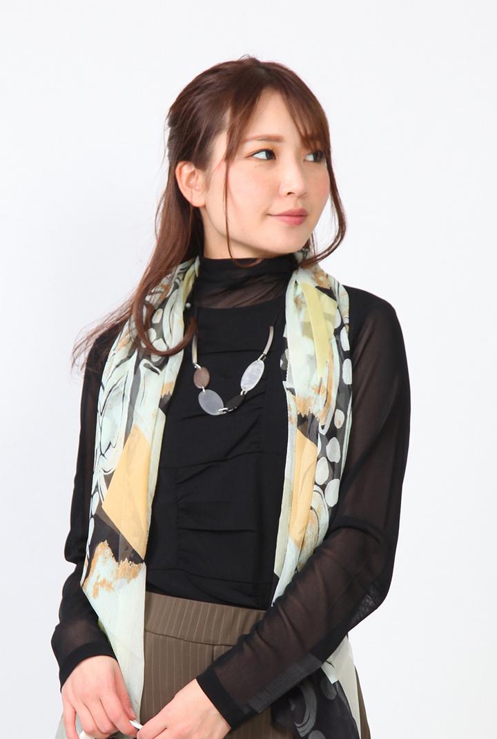 Se ninon 日本製 ハイネックカットソー チュール レディース ミセス 春夏