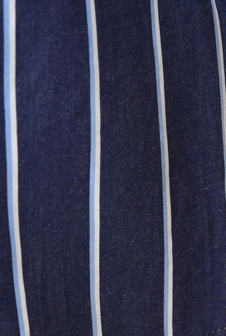 【50%OFF】プリマティーボ ハナエモリ ドゥ 綿100% 七分袖 先染めストライプブラウス 胸ポケット Tシャツブラウス レディース 春夏