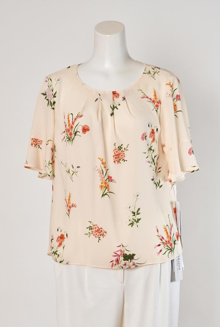 プリマティーボ ハナエモリ ドゥ 日本製 フラワープリント 小花柄 Tシャツブラウス レディース ミセス 春夏