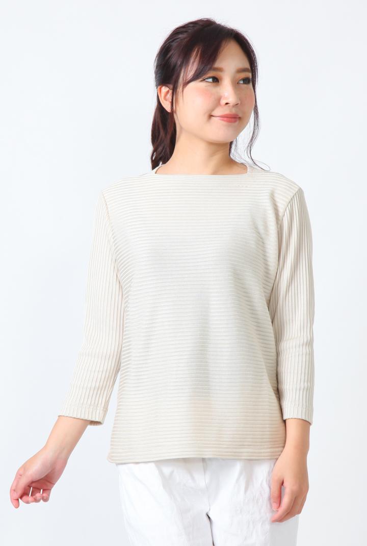 Se ninon 日本製 カットソー シルックリブ レディース ミセス 春夏