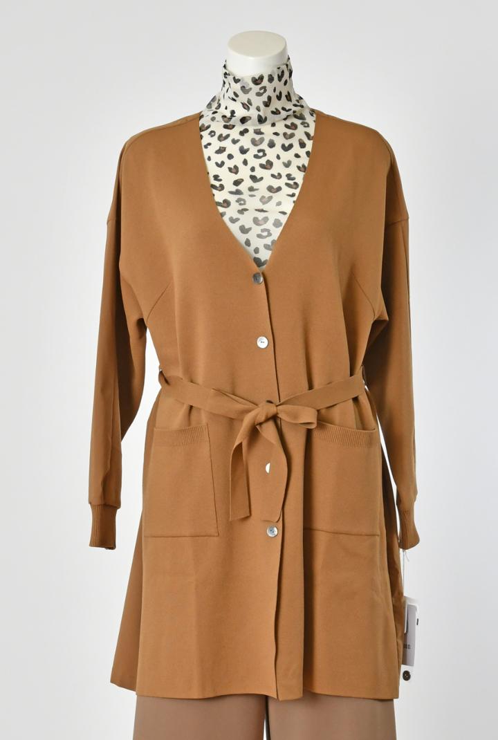 上品・上質な大人服をご提案するレディースブランドSe ninon Se ninon レディース・ミラノスムース・ロングカーディガン・ワンサイズ・秋冬