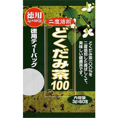 毎日の健康維持と美容などにお役立て下さい ティーバッグタイプ 本物 激安価格と即納で通信販売 3g×60包 徳用 ユウキ製薬 どくだみ茶100