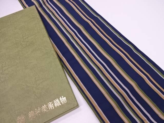 【IDN】 龍村美術織物 たつむら製 とくさ間道袋帯【q新品】【着】