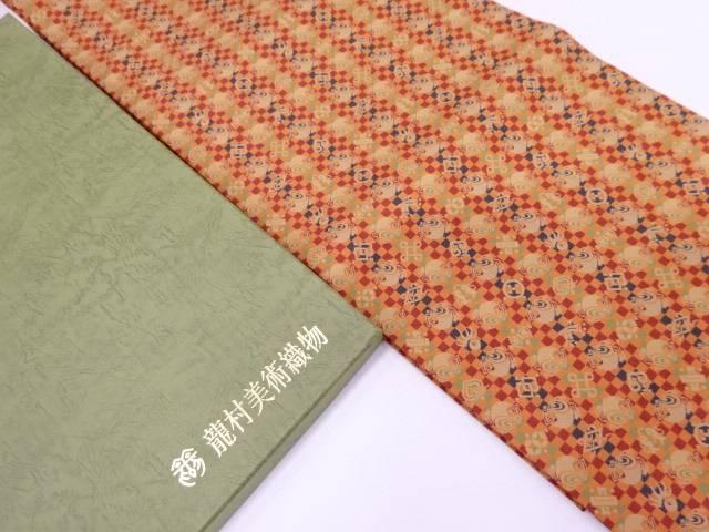 【IDN】 龍村美術織物製 打出小槌文光波帯(仕立て名古屋帯)【q新品】【着】