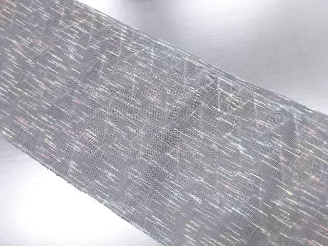 【IDN】 紗幾何学に変わり縞模様織り出し名古屋帯【リサイクル】【中古】【着】