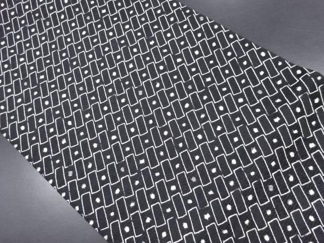 【IDN】 抽象模様織り出し袋帯(未仕立て)【新品】【着】