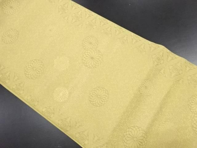 【IDN】 本場筑前博多霞に菊模様織り出し袋帯【リサイクル】【中古】【着】