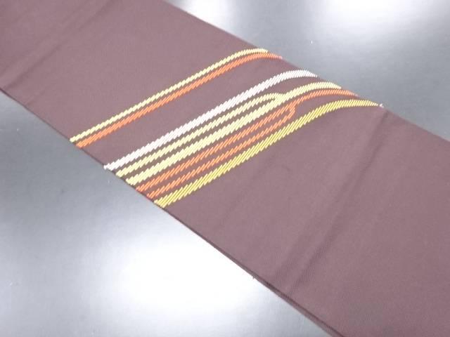【IDN】 変わり織り出し抽象模様名古屋帯【リサイクル】【中古】【着】