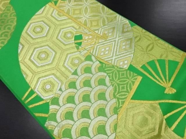 【IDN】 川島織物製 扇面に古典柄織り出し本袋帯【リサイクル】【中古】【着】