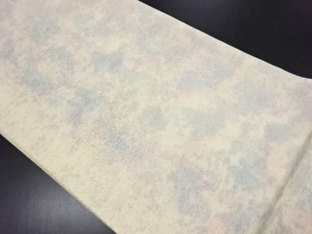 【IDN】 未使用品 染織工芸おがわ製 暈し柄織り出し全通袋帯【リサイクル】【着】