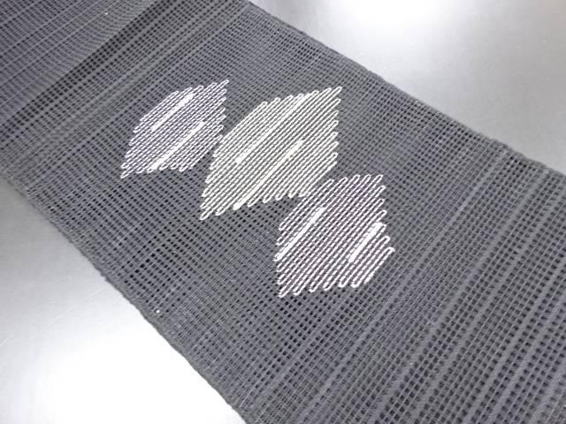 【IDN】 羅菱模様織り出し名古屋帯【リサイクル】【中古】【着】