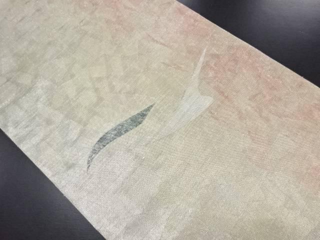 【IDN】 引箔螺鈿抽象模様袋帯【リサイクル】【中古】【着】