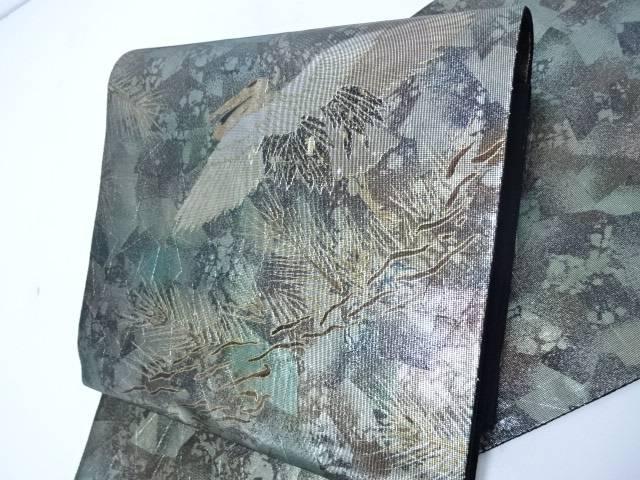 【IDN】 袋帯 六通柄 螺鈿 松に飛鶴【リサイクル】【中古】【着】