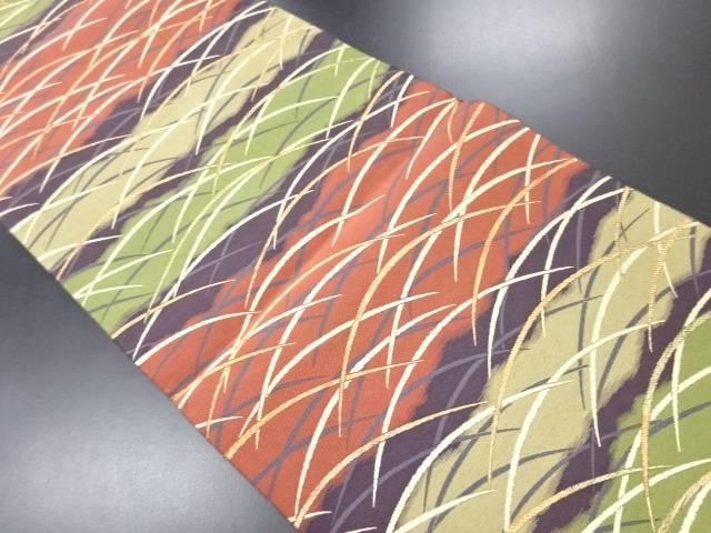【IDN】 芝草模様織り出し袋帯【リサイクル】【中古】【着】