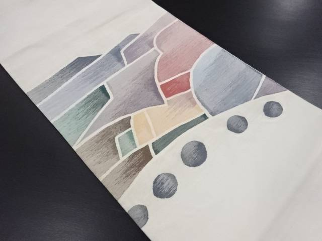 【IDN】 綴れ抽象模様織り出し袋帯【リサイクル】【中古】【着】