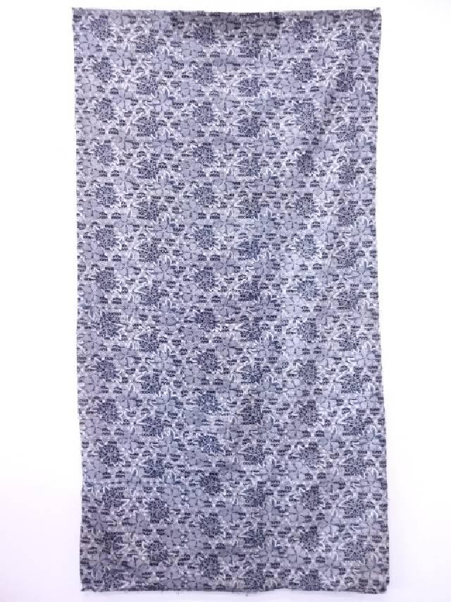 【IDN】 木綿藍更紗三巾【アンティーク】【中古】【着】