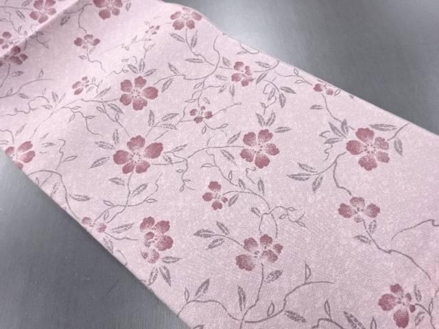 【IDN】 未使用品 枝花模様織り出し全通袋帯【リサイクル】【着】