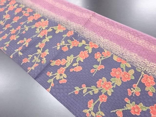 【IDN】 枝桜模様全通袋帯【リサイクル】【中古】【着】