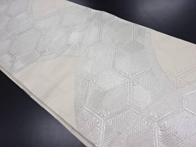 【IDN】 亀甲に松葉模様織り出し袋帯【リサイクル】【中古】【着】