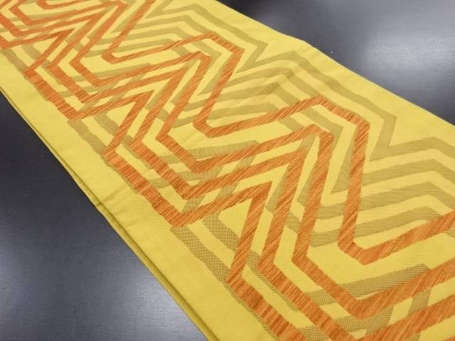 【IDN】 抽象模様織り出し洒落袋帯【リサイクル】【中古】【着】