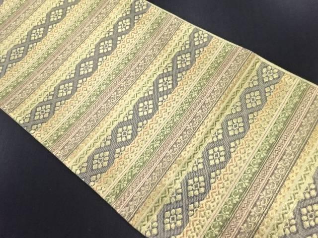 【IDN】 佐賀錦幾何学模様織り出し袋帯【リサイクル】【中古】【着】